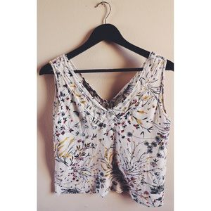 Cropped Floral Zara Top